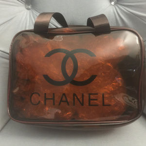 New Chanel Cosmetic Makeup Bag - Wine Color